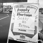 Petrol shortage sign during the oil crash, 1974