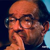 Alan Greenspan during the bond market crash in 1994